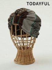 TODAYFUL(トゥデイフル)<br>Pattern Turban Cap  19春夏.予約【11911090】帽子