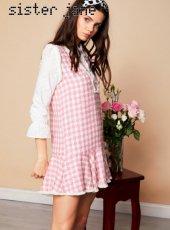 sister jane(シスタージェーン)<br>Yes Darling Tweed Dress  19春夏.予約【19SJ02DR1051】フレアワンピース
