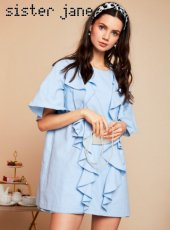 sister jane(シスタージェーン)<br>Better Half Mini Ruffle Dress  19春夏.【19SJ02DR1064】フレアワンピース