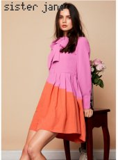 sister jane(シスタージェーン)<br>Dolly Colourblock Mini Dress  19春夏.【19SJ02DR1067】フレアワンピース