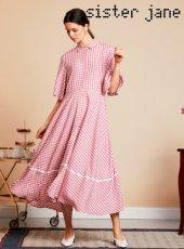 sister jane(シスタージェーン)<br>Avenue Affair Midi Dress  19春夏.【19SJ02DR1068】フレアワンピース