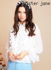 sister jane(シスタージェーン)<br>Prim Ruffle Shirt  19春夏.予約【19SJ02BL833】シャツ・ブラウス