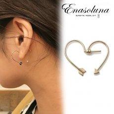 Enasoluna(エナソルーナ)<br>Arrow heart pierced 9月初旬予約【11961545】ピアス・イヤリング
