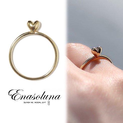 Enasoluna(エナソルーナ)<br>Mellow heart ring(K10)  【11961541】リング