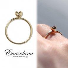 Enasoluna(エナソルーナ)<br>Mellow heart ring(K10)  【11961541】リング sale