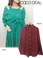 COCODEAL(ココディール)<br>インドコットンコンパクトシャツ  19春夏.【79218302】シャツ・ブラウス19ssfs sale
