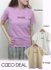 COCODEAL(ココディール)<br>FRUIT OF THE LOOMコラボボックスロゴTシャツ  19春夏.【79321367】Tシャツ19ssfs
