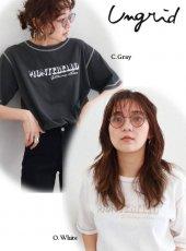 Ungrid(アングリッド)<br>MONTEBELLOプリントTee  19春夏.【111932735701】Tシャツ19ssfs