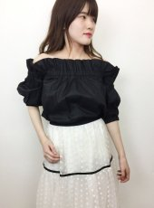 Honey mi Honey (ハニーミーハニー)<br>tacfrill offshoulder blouse  19春夏.【19S-TA-54】シャツ・ブラウス