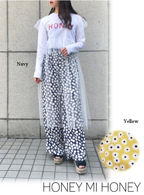 Honey mi Honey (ハニーミーハニー)<br>daisy widepants  19春夏.【19S-VG-26】パンツ19ssfs sale