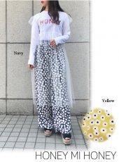 Honey mi Honey (ハニーミーハニー)<br>daisy widepants  19春夏.【19S-VG-26】パンツ19ssfs