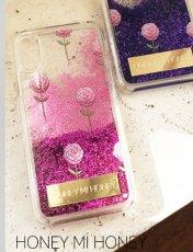 Honey mi Honey (ハニーミーハニー)<br>glitter rose iPhonecase  19春夏.【GB-31】iPhone・iPadケース iPhoneX.XS 19ssfs
