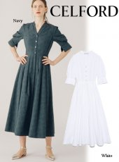 CELFORD(セルフォード)<br>フラワージャガードシャツドレス 19春夏.【CWFO192031】マキシワンピース19ssfs