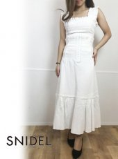 snidel (スナイデル)<br>ハイウェストコルセットスカート  19春夏.【SWFS192055】ロング・マキシスカート