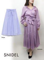 snidel (スナイデル)<br>コットンメローギャザースカート  19春夏.【SWFS192053】フレアスカート19ssfs