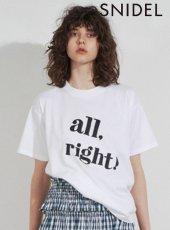 snidel (スナイデル)<br>ビックロゴTシャツ  19春夏.【SWCT192120】Tシャツ19ssfs