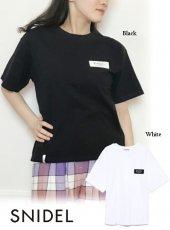 snidel (スナイデル)<br>ロゴテープTシャツ  19春夏.予約【SWCT193316】Tシャツ19ssfs