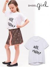 snidel (スナイデル)<br>KIDSビッグロゴTシャツ  19春夏.【SKCT192134】トップス19ssfs