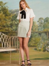 sister jane(シスタージェーン)<br>Greenhouse Pleated Mini Skirt  19春夏.【19SJ03SK330】タイトスカート 19ssfs