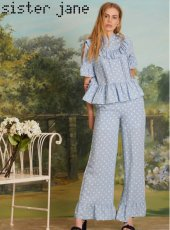 sister jane(シスタージェーン)<br>Potting Plant Ruffle Trousers  19春夏.【19SJ03TR136】パンツ 19ssfs