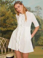 sister jane(シスタージェーン)<br>Precious Petal Mini Dress  19春夏.【19SJ03DR1082】フレアワンピース 19ssfs