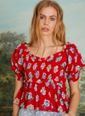 sister jane(シスタージェーン)<br>Blooming Bess Shirring Top  19春夏.【19SJ03TO406】シャツ・ブラウス 19ssfs