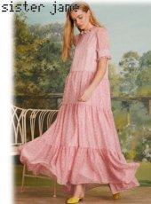 sister jane(シスタージェーン)<br>Lucky Lawn Tiered Maxi Dress  19春夏.予約【19SJ03DR1084】マキシワンピース