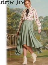 sister jane(シスタージェーン)<br>Herbage Butterfly Maxi Skirt  19春夏.【19SJ03SK331】ロング・マキシスカート 19ssfs
