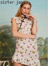 sister jane(シスタージェーン)<br>Alate Peplum Mini Dress  19春夏.予約【19SJ03DR1089】タイトワンピース