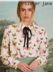 sister jane(シスタージェーン)<br>Alate Ribbon Shirt  19春夏.予約【19SJ03BL841】シャツ・ブラウス