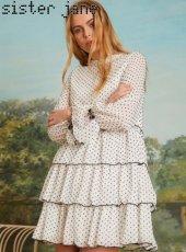 sister jane(シスタージェーン)<br>Sienna Seed Tiered Mini Dress  19春夏.予約【19SJ03DR1092】フレアワンピース