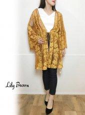 Lily Brown(リリーブラウン)<br>ティアードスリーブガウン  19春夏.【LWFJ192100】ジャケット19ssfs