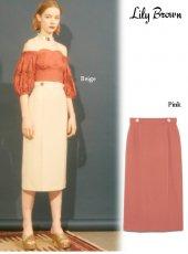 Lily Brown(リリーブラウン)<br>ポンチタイトスカート  19春夏.【LWCS192059】タイトスカート19ssfs