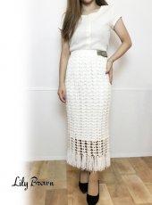 Lily Brown(リリーブラウン)<br>フィッシュネットタイトスカート  19春夏.【LWNS192178】タイトスカート19ssfs