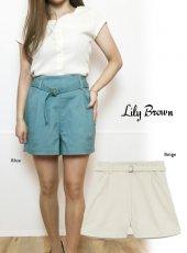 Lily Brown(リリーブラウン)<br>デザインステッチショーパン  19春夏.【LWFP192152】ショートパンツ19ssfs