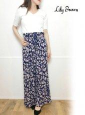 Lily Brown(リリーブラウン)<br>花柄カットパンツ  19春夏.【LWCP192073】パンツ ◆ar 5月号掲載◆19ssfs