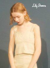 Lily Brown(リリーブラウン)<br>デザインステッチビスチェ  19春夏.【LWFT192150】キャミソール・ベアトップ・ビスチェ19ssfs