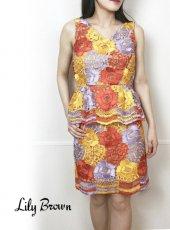 Lily Brown(リリーブラウン)<br>フラワーレーストップス  19春夏.【LWFT192050】タンクトップ・ノースリーブトップス