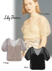 Lily Brown(リリーブラウン)<br>ビーズ刺繍3wayトップス  19春夏.【LWFT192017】シャツ・ブラウス19ssfs