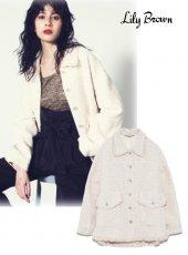 Lily Brown(リリーブラウン)<br>ツイードビッグジャケット 19春夏.【LWFJ193016】ジャケット19ssfs