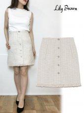 Lily Brown(リリーブラウン)<br>ツイード台形スカート  19春夏.【LWFS193017】フレアスカート19ssfs