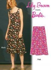 Lily Brown(リリーブラウン)<br>Barbie柄スカート  19春夏.【LWFS192201】フレアスカート