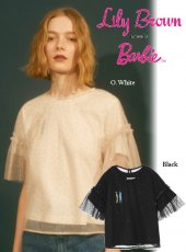 Lily Brown(リリーブラウン)<br>barbieチュールレイヤーTシャツ  19春夏.【LWCT192203】Tシャツ