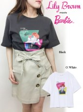 Lily Brown(リリーブラウン)<br>BarbieプリントTシャツ  19春夏.【LWCT192202】Tシャツ