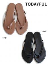 TODAYFUL (トゥデイフル)<br>Ecoleather Beach Sandals  19秋冬【11911092】サンダル