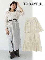 TODAYFUL (トゥデイフル)<br>Crepe Airy Dress  19秋冬【11920311】マキシワンピース