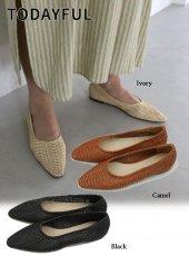 TODAYFUL (トゥデイフル)<br>Braid Flat Shoes  19秋冬【11921035】フラットシューズ