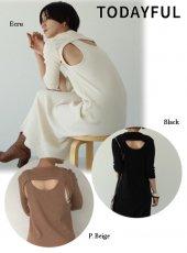 TODAYFUL (トゥデイフル)<br>BackLayered Rib Dress  19秋冬予約【11920318】タイトワンピース