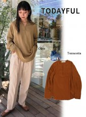 TODAYFUL (トゥデイフル)<br>Satinjacquard Skipper Blouse  19秋冬【11920403】シャツ・ブラウス TODAYFUL20 sale