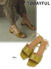 TODAYFUL (トゥデイフル)<br>Opentoe Square Sandals  19秋冬【11921002】サンダル